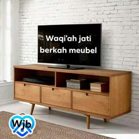 Meja tv Retro modern & elegan ( P.150cm) bahan kayu jati tua asli 100%
