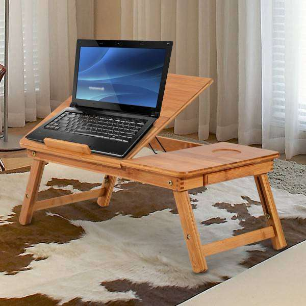 Multipurpose Wooden Laptop Table with Drawer Study Table 0
