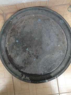 Copper / Raagi Drum (Handi) with plate