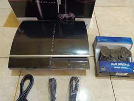 PS3 FAT HDD 320 GIGA FULL GAME FULL SET BISA TT PS2