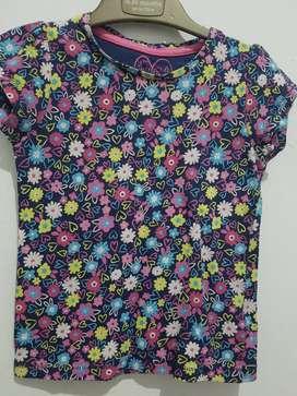 Kaos anak mothercare ungu 2)-3 th
