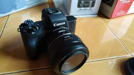 Canon eos m50 adapter + lensa 50mm STM