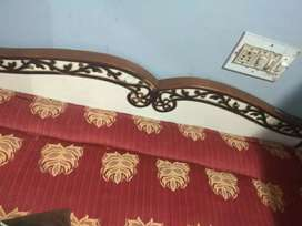 Pure teak wood bed with cotton matters