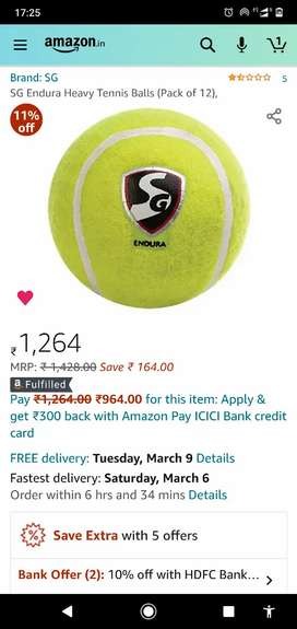 SG Endura Heavy Tennis Balls (Pack of 12) New
