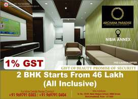 2 BHK starts at Rs.46 lac only in NIBM