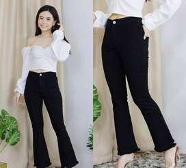 Celana jeans size 30 hitam strech VISION
