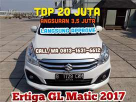 Suzuki Ertiga GL Matic AT 2017/2018, TDP 20 JT angs.3,5 JT Paket Murah