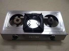 Pigeon stainless steel two burner gas stove