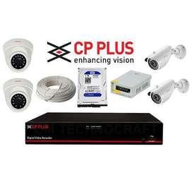 Brand New Cp plus Hikvison cctv 2,4,8 channel set up, Biometric