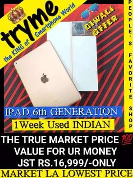 TRYME 1Week Used IPAD 6th Generation Indian Warranty