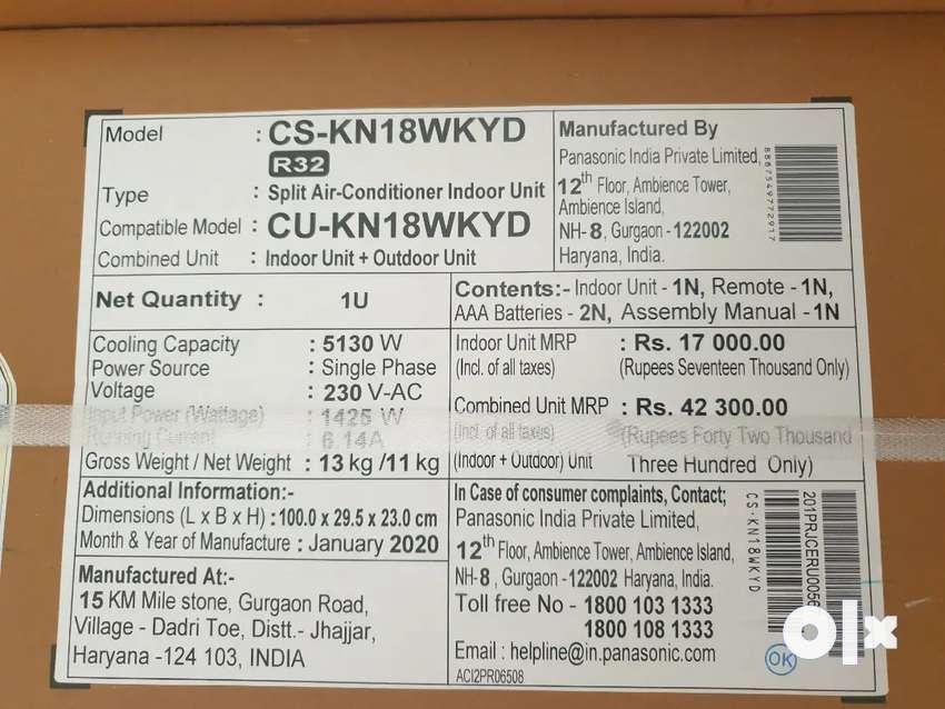 6 New Panasonic 1.5 Ton Split AC CSKN18WKYD 0