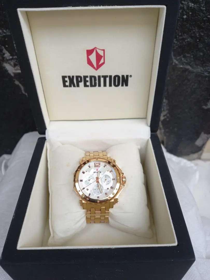 Jam tangan expedition 6402 rose gold