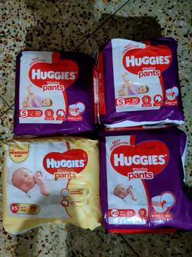 huggies diaper xl and s size (new product)