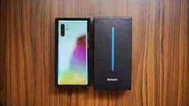Samsung Note 10 Plus Aura Glow With Bill Box & All Accessories