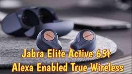 Jabra Elite Active 65t Alexa Enabled True Wireless Sports Earbuds new!