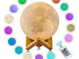PROMO - Moon Lamp / Lampu Bulan 15CM 16 warna RGB + Remote