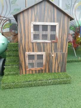 Cat house wooden
