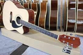 Gitar Akustik Elektrik Model Jumbo Bahan Sungkai