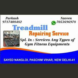 All types of Gym machine and treadmill repairing & servicing