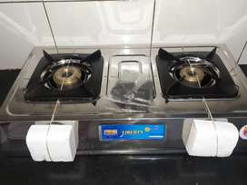 New Bharat Gas Stainless Steel Gas Stove - 2 Burners