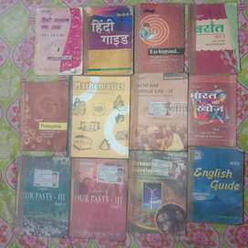 Class 8th books + guide in excellent condition.