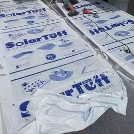 Solartuff bening transparan pengganti kaca...