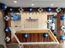 Need a receptionist for our kovai mobile branded service showroom