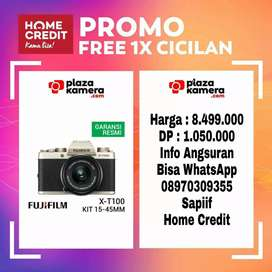 Fujifilm X-T100 Kit XC 15-45mm Champagne Gold Promo Free 1x Cicilan