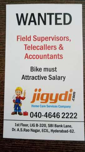 Wanted Telecallers to work in ECIL branch.