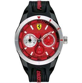 Scuderia Ferrari redrev T with stainliess steel accent in black & red