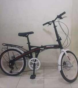 sepeda lipat exotic ukuran 20