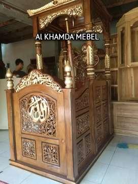 Ready Mimbar Masjid Material Kayu Jati Berkualitas 201FSK