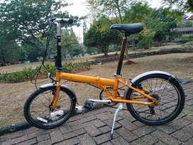 Sepeda Lipat Dahon Archer CDM Kuning Antik Rare 6 speed
