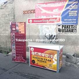 Booth Portable gerobak lipat alumunium