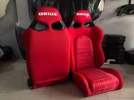 JOK RACING BRIDE CUGA MERAH GRADASI RACING SEAT - SOLOK