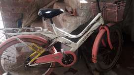 gang cycle pink&white colour