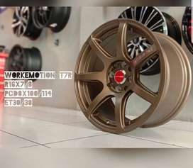 jual velg Rep. Worx emotion T7R 16x7.0 h8 bronze JDM Jazz Brio Mobilio