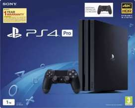 Ps4 pro 5.05 with 100 games all accessories of playstation