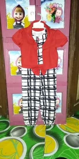 Baju anak cewek umur 3-5 thn rompi bisa di lepas mulus