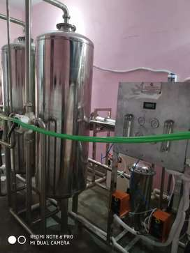2000 litre per hour fully stainless steel RO plant