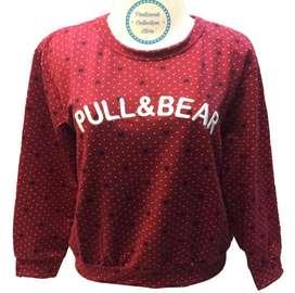 "Kaus Sweater Bahan Baby Terry ""Pull & Bear"""