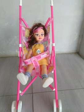 OBRAL 1 set boneka dan troly(baru)
