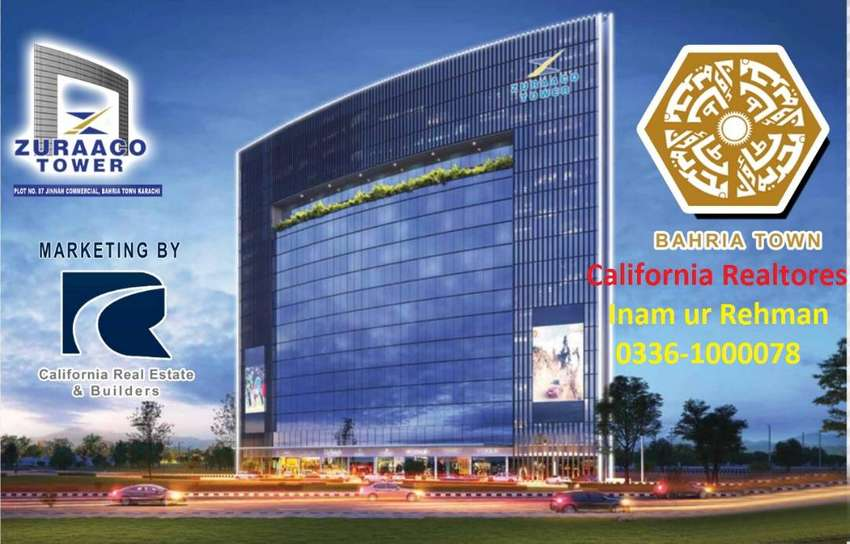 Zuraco Tower Com Offices available(Installment) in Bahria Town Karachi 0