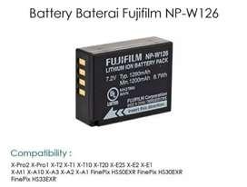 Battery Baterai Fujifilm NP-W126 For XA10 XA3 XA5 XT20 XT1 XT2 XT100