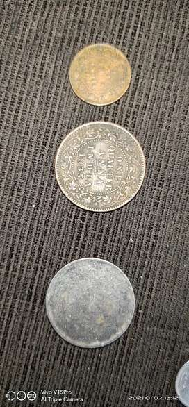Old coins Indian and other