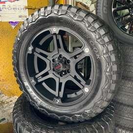 SECOND 99% Velg & Ban 20 BRAVE ROAD 6Lubang Pajero Triton hilux fortun