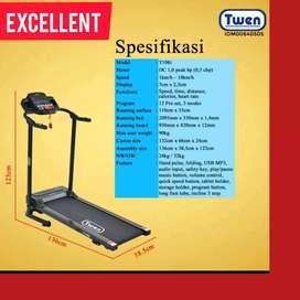 treadmill elektrik twen TM-60 II sepeda statis II home gym