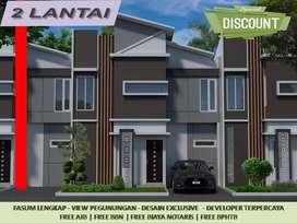 2Lantai 2KT Tipe 34/60 Rumah Dijual di Malang Free Biaya Dekat Kampus