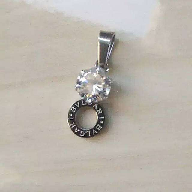 Liontin BVLGARI Simplicity Titanium Diamond Cubic Zirconia 0