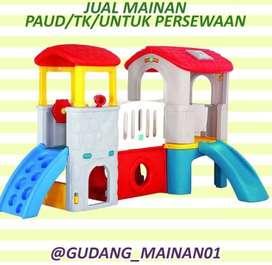 mainan playground anak rumah-rumahan dengan perosotan berkualitas
